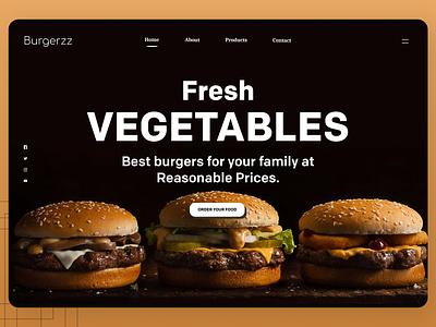 Online Food Web Design website uxdesign designer uidesign shopify designs web ux ui design