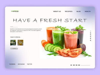 Fresh Juices website uxdesign design designer uidesign shopify designs web ux ui