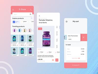 Medicine App flat app ux ui design