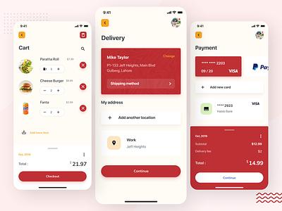 Food ordering App icon minimal ux ui flat design app