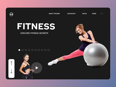 Gym fitness landing page web website minimal icon ux ui design app