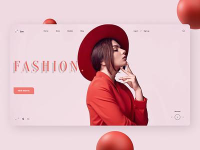 Clothing Web Design fashion design fashion uxdesign uidesign new branding flat ux ui design