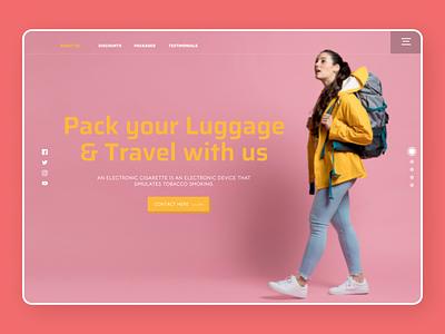 Travelling Web Design uidesign new branding minimal ux ui design
