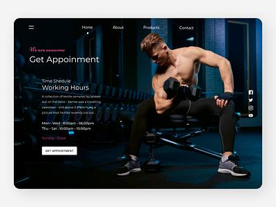 Fitness Landing Page website uidesing uxdesign new uidesign branding minimal ux ui design