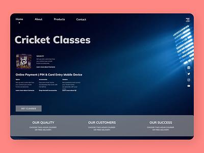 Cricket Classes uidesing website uxdesign new uidesign branding minimal ux ui design