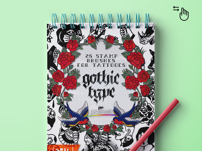 PROCREATE BRUSHES: Gothic Type Stamp illustration design stamps alphabet gothic procreate brush brushset