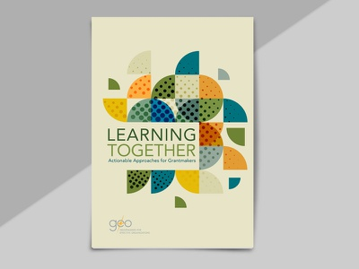 Geo Publication: Learning Together layout pattern cover design publication design