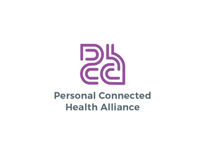 Personal Connected Health Alliance graphic design typography branding acronym logotype logo design