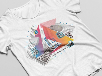Microsoft Azure T-Shirt 80s style windows icon azure microsoft illustration graphic design design tshirt design swag
