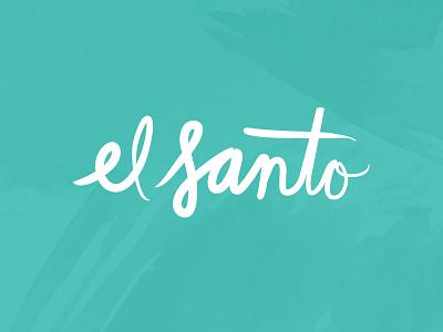 El Santo Logo Design local bar restaurant lettering identity logo branding