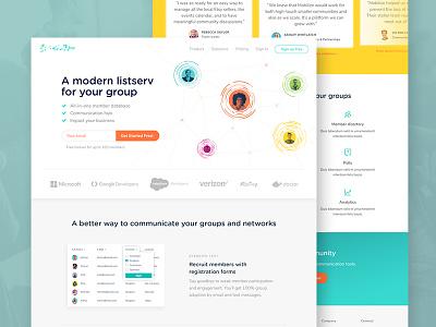 Website Design homepage saas website ux ui typography page layout landing design