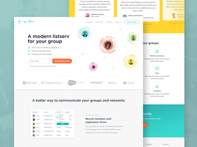 Website Design homepage saas website ux ui typography page layout landing design
