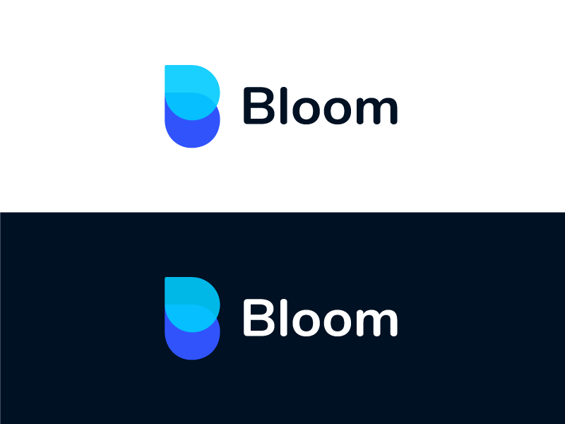 Bloom Logo b branding vector sketch illustration logo icon app