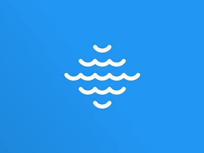 Nautical Logo blue nautical sail wave shape symbol logo branding