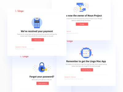 Transactional Emails clean illustration product app transactional layout email