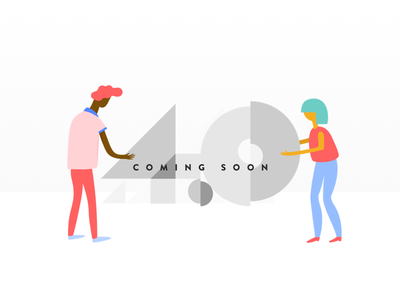 Coming Soon version 4 number flat update product soon illustration