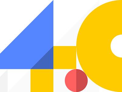 Four. Point. Zero 4 four color number illustration