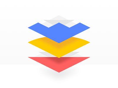 Versions geometric blocks colors versions layers illustration