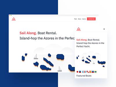 WWW island sail brand website illustration freelance