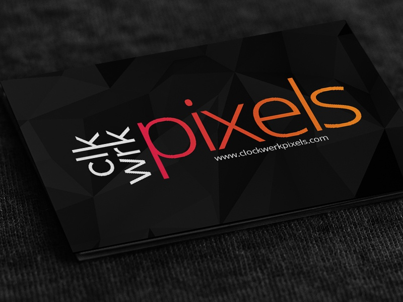 Clockwerk Pixels Business Card By Sidharth Rajah Dribbble Dribbble