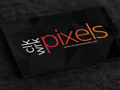 Clockwerk pixels business card by sidharth rajah dribbble clockwerk pixels business card colourmoves