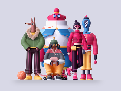 GANG team gang characterdesign characters character design character colors graphic illustration 3d 2d