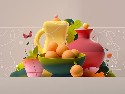 Fruity fruit illustration fruity fruit design graphic illustration 2d 3d