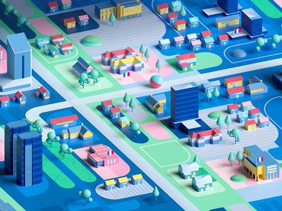CITY animation shape 2d 3d design architecture structure graphic illustration city illustration city