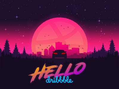 Hello, Dribbble cruise control vice retro 80s outrun debut