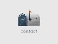 Contact Icon Illustration