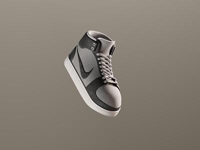 Nike Air Jordan 1 motion graphics graphic design 3d