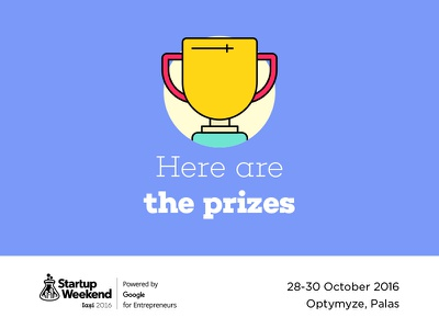 Startup Weekend Iasi 2016 | Prizes prize entrepreneur conference event outline yellow iasi illustration design weekend startup