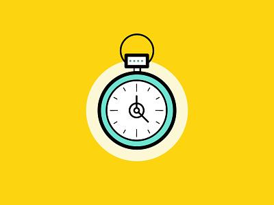 Clock Illustration hour left weekend startup time clock