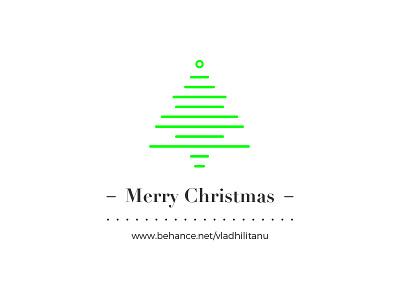 Merry Christmas Card winter holidays santa claus tree card christmas