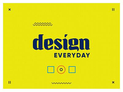 Design Everyday challenge yellow icons patterns design