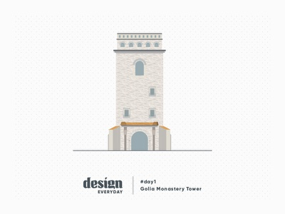 Day 1: Golia Monastery Tower old building iasi architecture building tower illustration