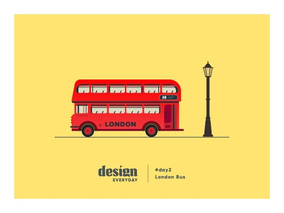 Double Decker Bus illustration double-decker london bus