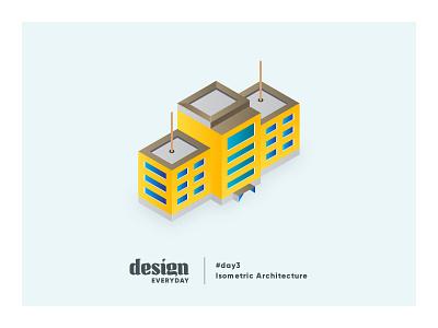 Isometric Design illustration building gradient architecture design isometric