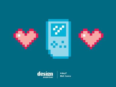 8 Bit Icons play game icon heart love 8bit icons