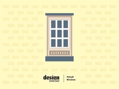 Old Window decor yellow old window architecture illustration