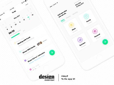To Do List app UI app list design ui to do