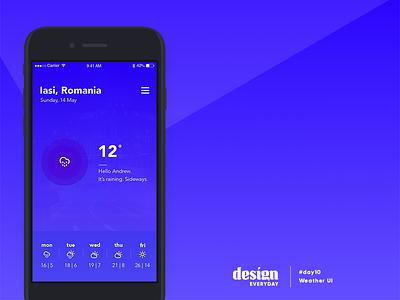 Weather UI sun app design ui weather
