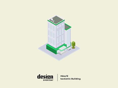 Isometric Building illustration building gradient architecture design isometric