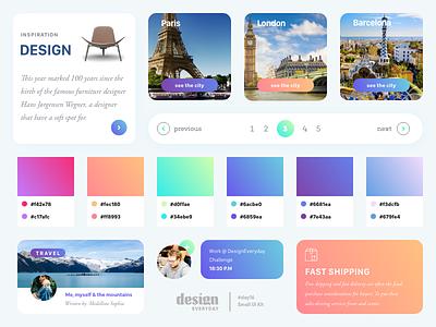 Small UI Kit web elements interface web design design kit ui