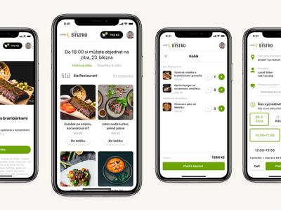 Rohlík.cz Bistro component shopping cart ui ux web food delivery