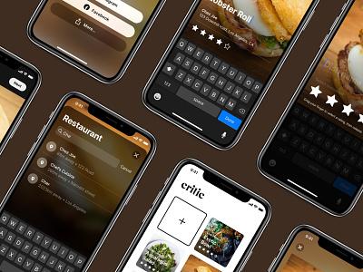 Critic star rate dish meal grid edit photo food instagram restaurant rating simple app