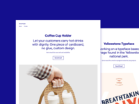Personal Website Landing Pages webdesign webflow portfolio nocturne roobert font yellowstone typeface coffee simple typography