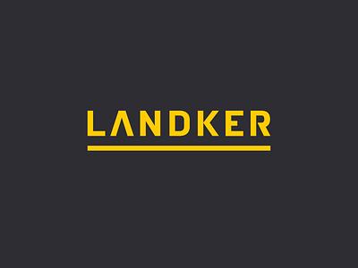 Landker Logo Redesign WIP construction realestate developer building engineering nudista typography logotype
