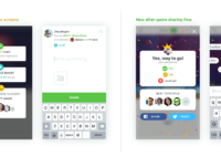 New sharing screens   progress and flow