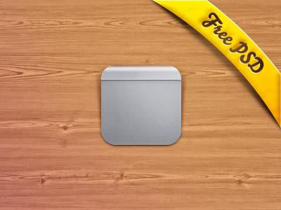 Magic Trackpad Icon + PSD Freebie! apple ios wood texture ribbon text simple shadow download free psd